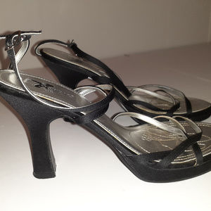Xappeal Black\Silver Strappy Heels